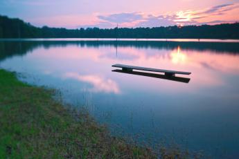 Картинка природа реки озера озеро закат