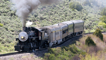 Картинка техника паровозы паровоз вагоны состав