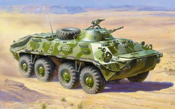 Картинка рисованные армия бтр
