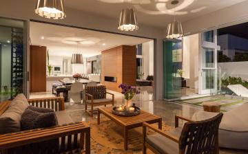 Картинка интерьер гостиная столик кресла мебель кухня дом лампы