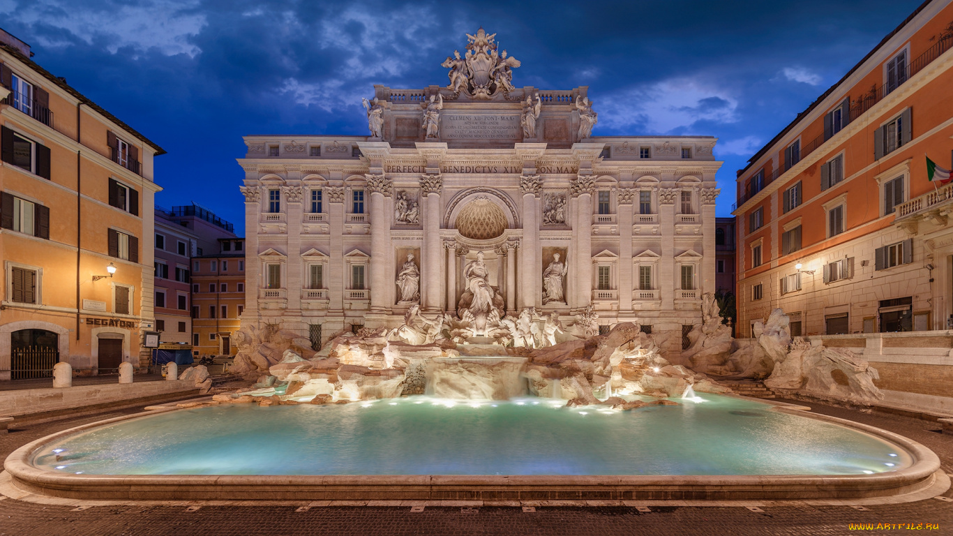 Trevi Fountain, Rome, Italy (Фонтан, Италия Рим) бесплатно