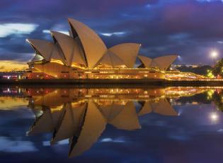 обоя города, сидней , австралия, ночные, огни, австрия, сидней, ночной, город