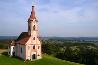 обоя города, - католические соборы,  костелы,  аббатства, природа, костёл, германия, панорама, церковь
