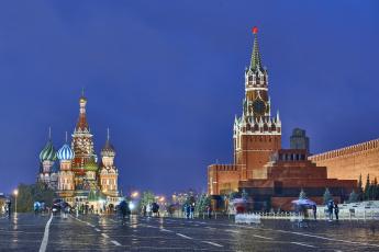 обоя red square on a rainy day - moscow,  russia, города, москва , россия, дворец, площадь, ночь