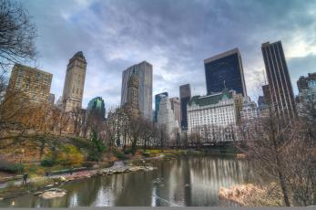 Картинка города нью-йорк+ сша здания город нью-йорк new york city парк небоскребы мегаполис nyc usa осень