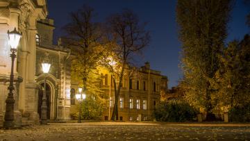 обоя alexeevsky palace,  st,  petersburg, города, санкт-петербург,  петергоф , россия, дворец, площадь, ночь