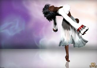 Картинка 3д+графика фантазия+ fantasy девушка взгляд фон поза