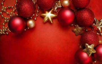 Картинка праздничные шары decoration украшения новый год рождество christmas stars merry red balls