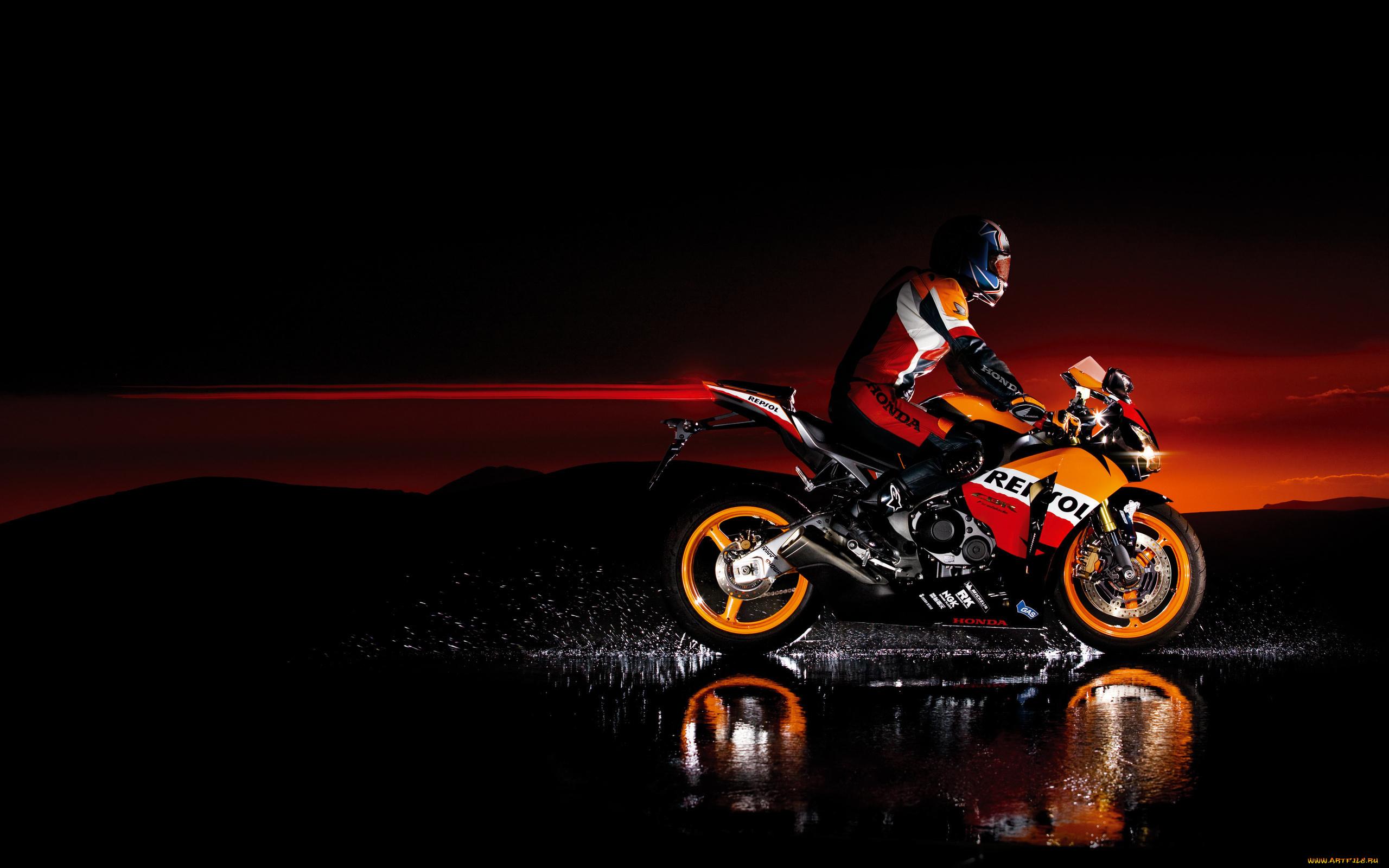 мотоцикл хонда красно-черный бесплатно
