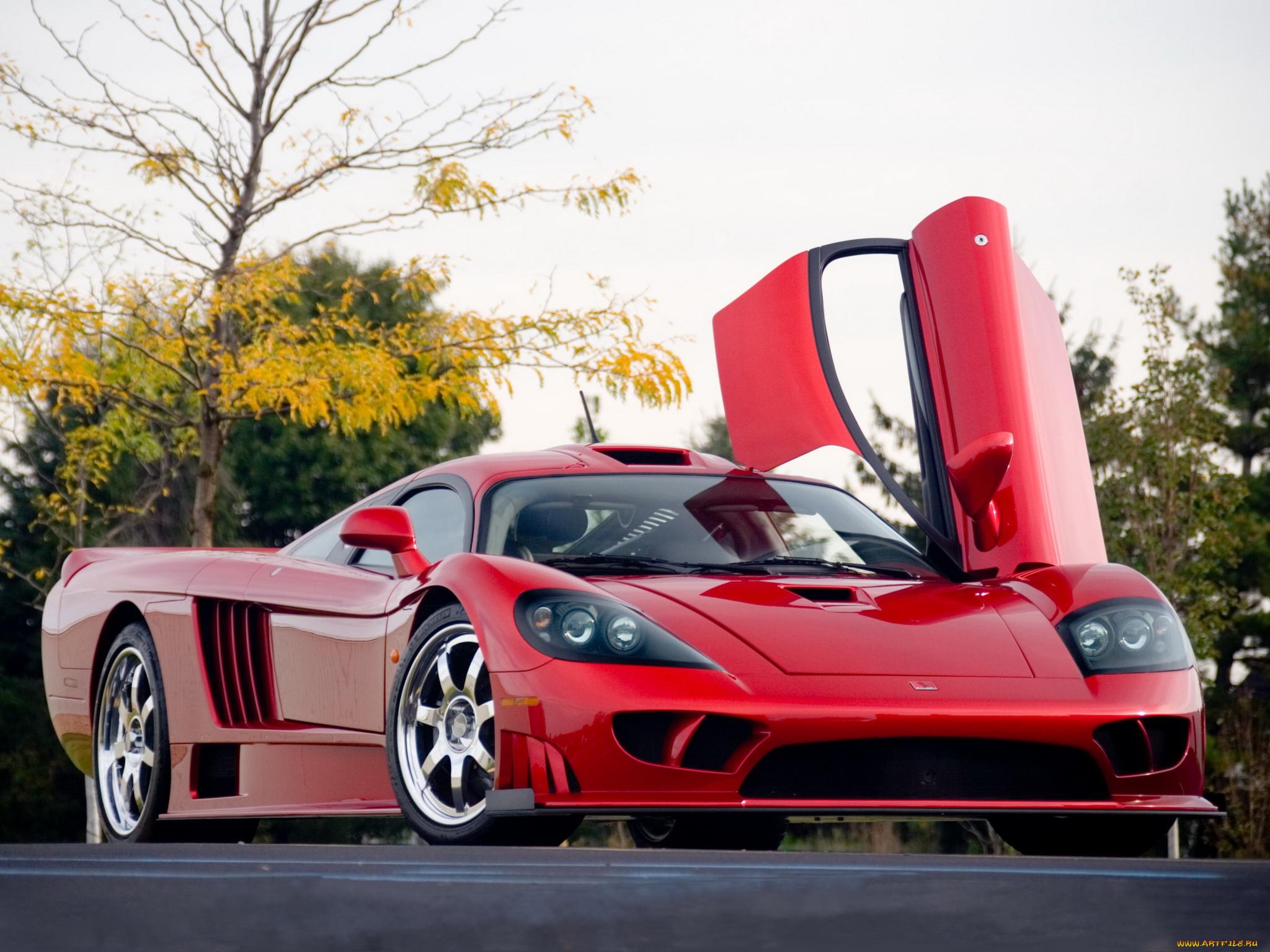 красный автомбиль Saleen S7 скачать