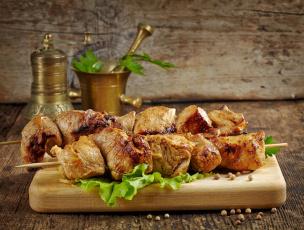 обоя еда, шашлык,  барбекю, салат, мясо
