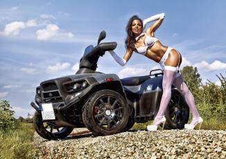 обоя мотоциклы, мото с девушкой, авто, девица