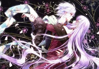 обоя аниме, reine des fleurs, парень, девушка