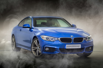 обоя bmw 420d m sport coupe, автомобили, bmw, синий