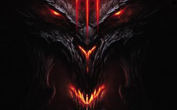 обоя фэнтези, демоны, демон, взгляд, огонь