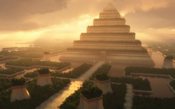 обоя фэнтези, иные миры,  иные времена, пирамида
