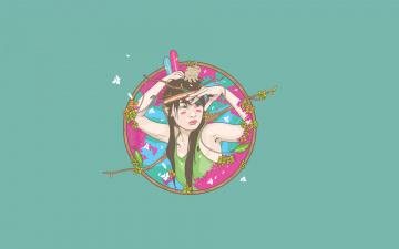 Картинка девушка рисованные минимализм стиль
