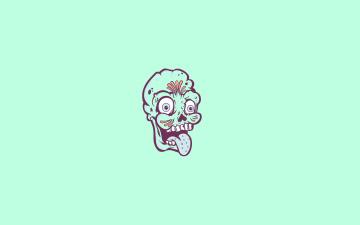 Картинка зомби рисованные минимализм zombie язык