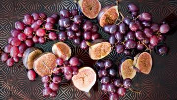 обоя еда, фрукты,  ягоды, виноград, инжир