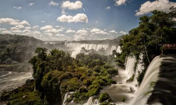 обоя природа, водопады, водопад, лес, река