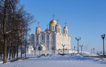 Картинка города -+православные+церкви +монастыри зима собор
