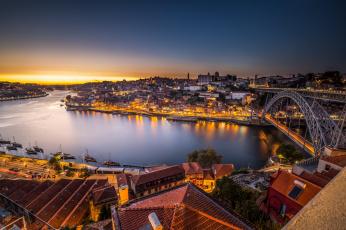 Картинка porto города -+панорамы мост река