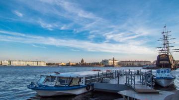 Картинка города санкт-петербург +петергоф+ россия saint-petersburg neva river