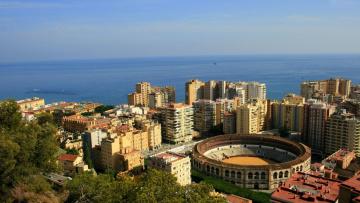 обоя малага, испания, города, - панорамы