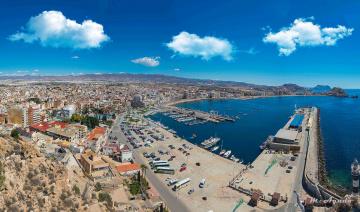 обоя puerto de aguilas, города, - панорамы, побережье