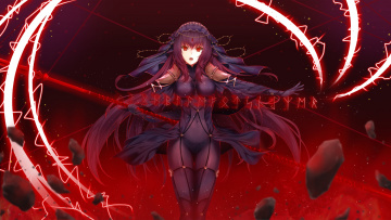 обоя аниме, fate, stay night, grand, order, scathach, hajika