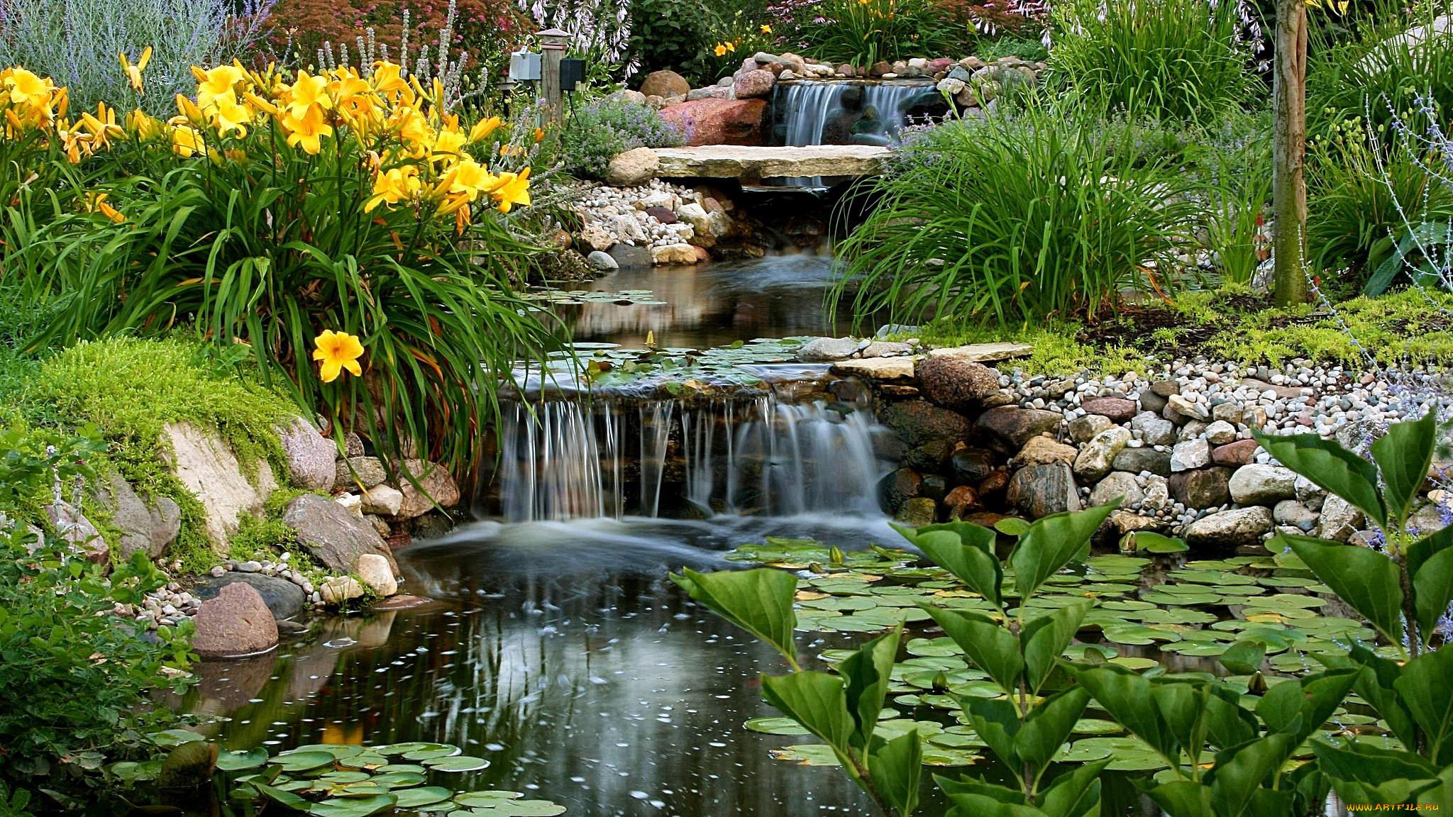 картинки водоемов с водопадом любим уважаем