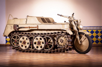 обоя 1944 kettenkrad motorcycle halftrack, мотоциклы, -unsort, motorcycle
