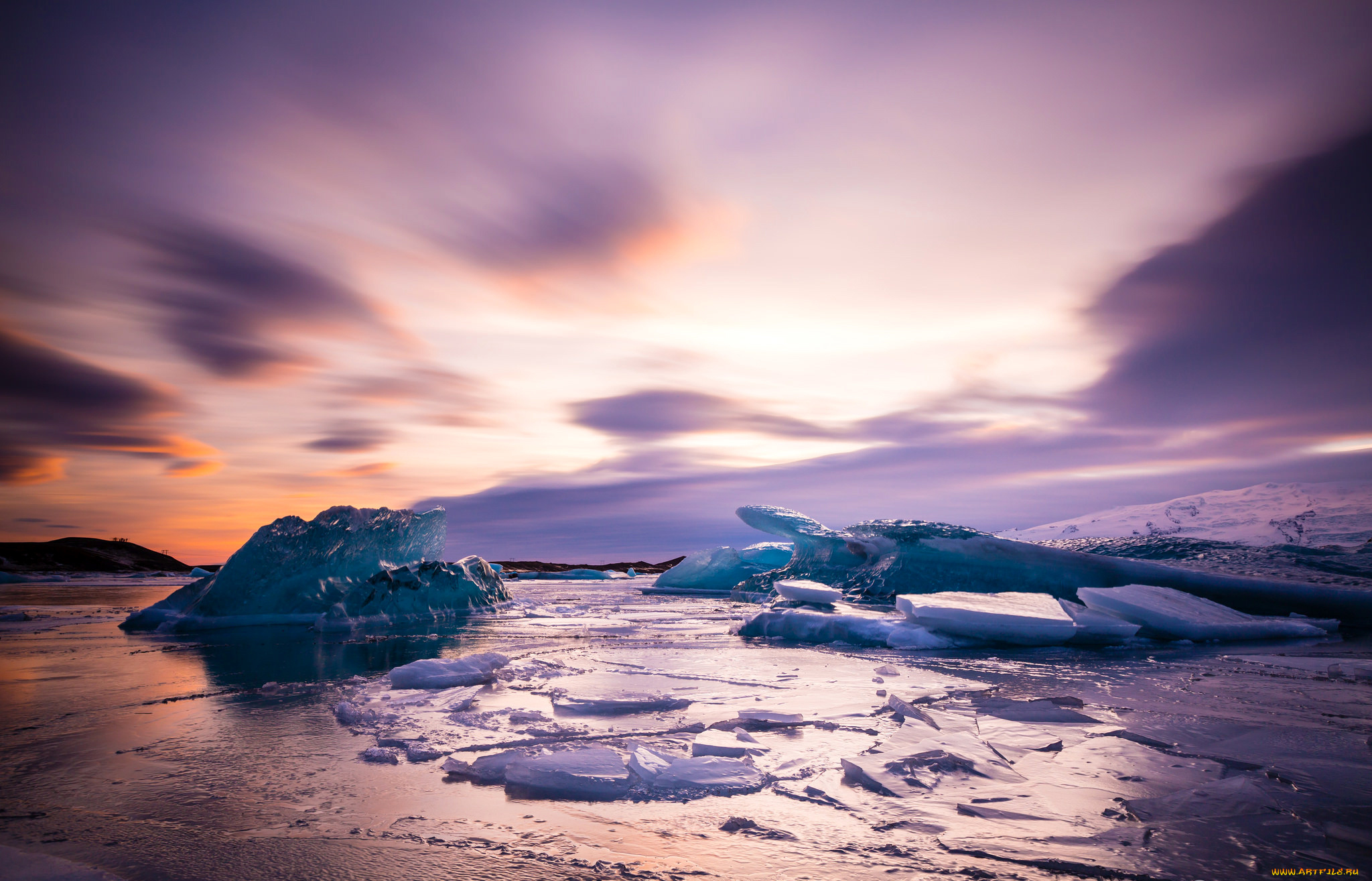 ледяные глыбы небо  № 2863191  скачать