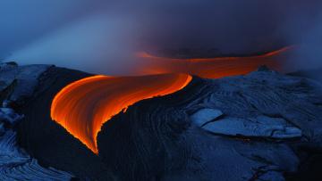 Картинка природа стихия гавайи килауэа вулкан сша лава