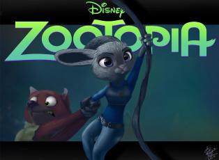 обоя мультфильмы, zootopia, judy, hopps, дисней, арт, nick, wilde