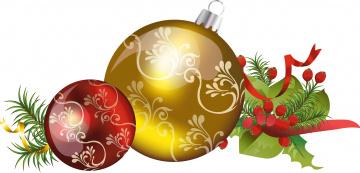 обоя праздничные, векторная графика , новый год, фон, шары