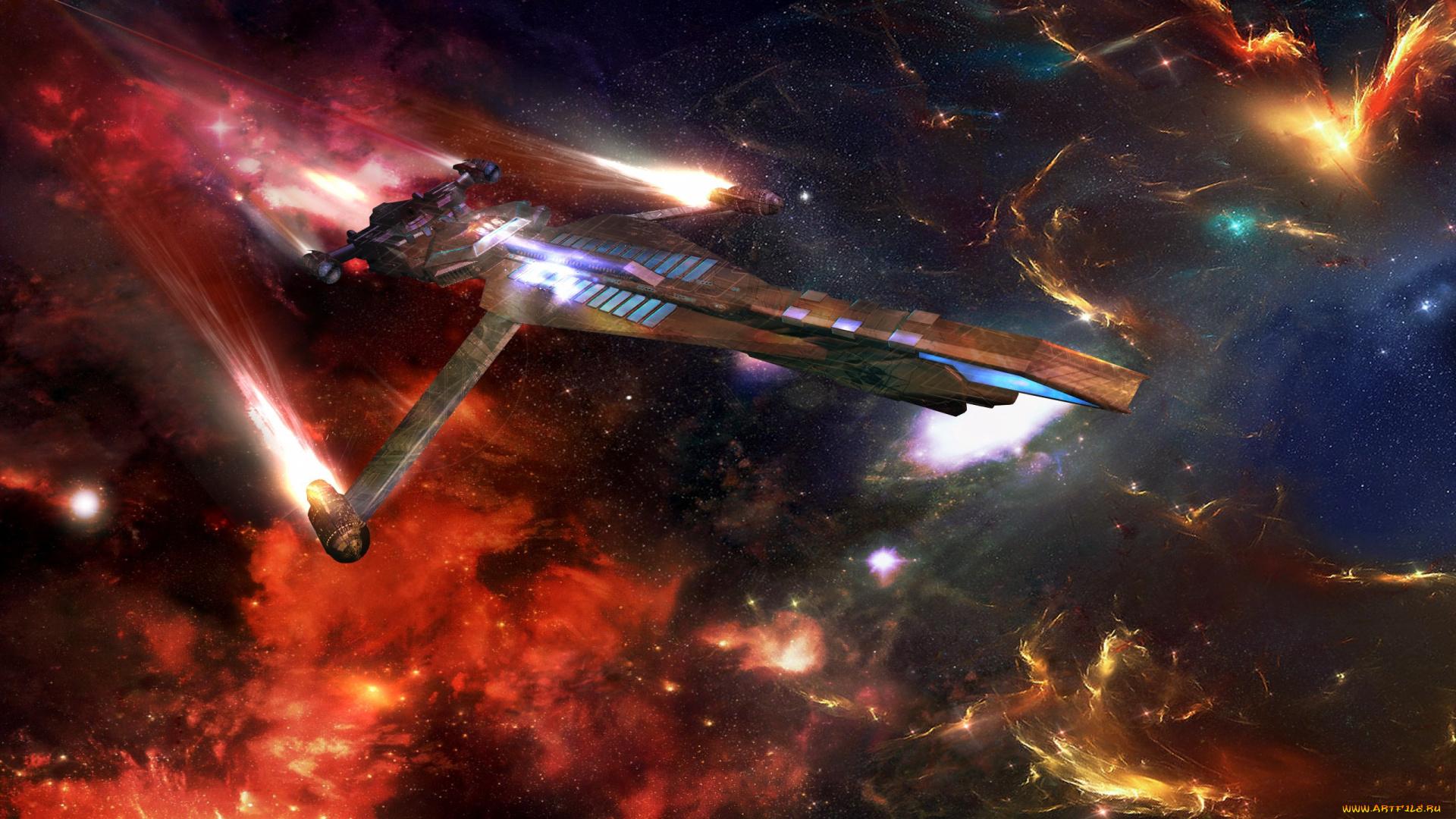 меня такой картинка с разными космическими кораблями ней