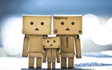 Картинка разное данбо danboard коробки семья роботы