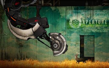 Картинка видео игры portal робот олень