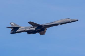 обоя rockwell b-1b lancer, авиация, боевые самолёты, бомбардировщик