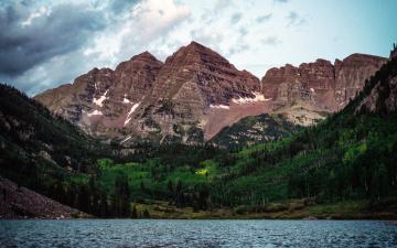 обоя природа, горы, озеро, лес