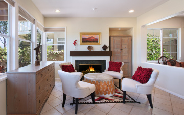 обоя интерьер, мебель, стиль, дизайн, камин