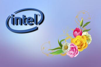 обоя компьютеры, intel, фон, логотип