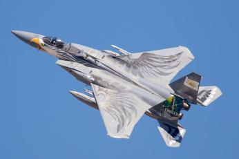 обоя f-15c eagle, авиация, боевые самолёты, истребитель