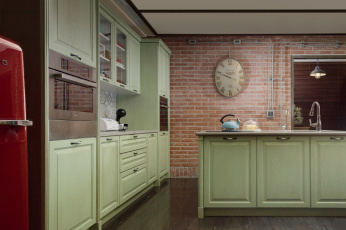 обоя интерьер, кухня, стулья, стол, стиль