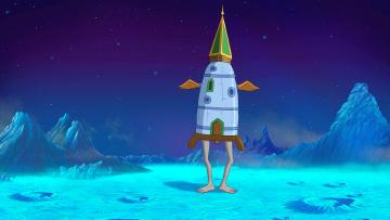 Картинка мультфильмы иван+царевич+и+серый+волк+2 планета ноги ракета