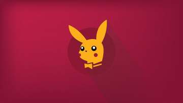 обоя рисованное, минимализм, japanese, pikachu, pokemon, playboy