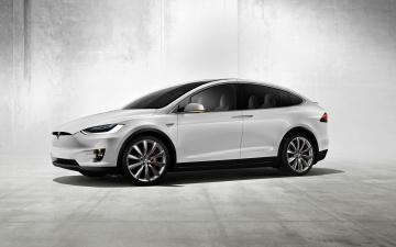 обоя автомобили, tesla, тесла, model, x, белый