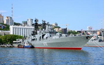 обоя корабли, крейсеры,  линкоры,  эсминцы, вмф, владивосток, корабль, адмирал, виноградов, противолодочный, большой, проект, 1155