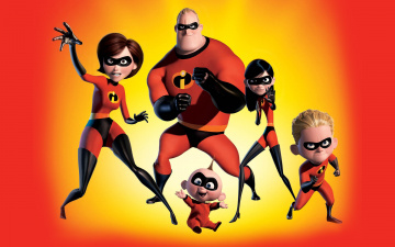 обоя мультфильмы, the incredibles, the, incredibles